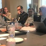 Green Century Shareholder Advocate Jessye Waxman engaging with stakeholders